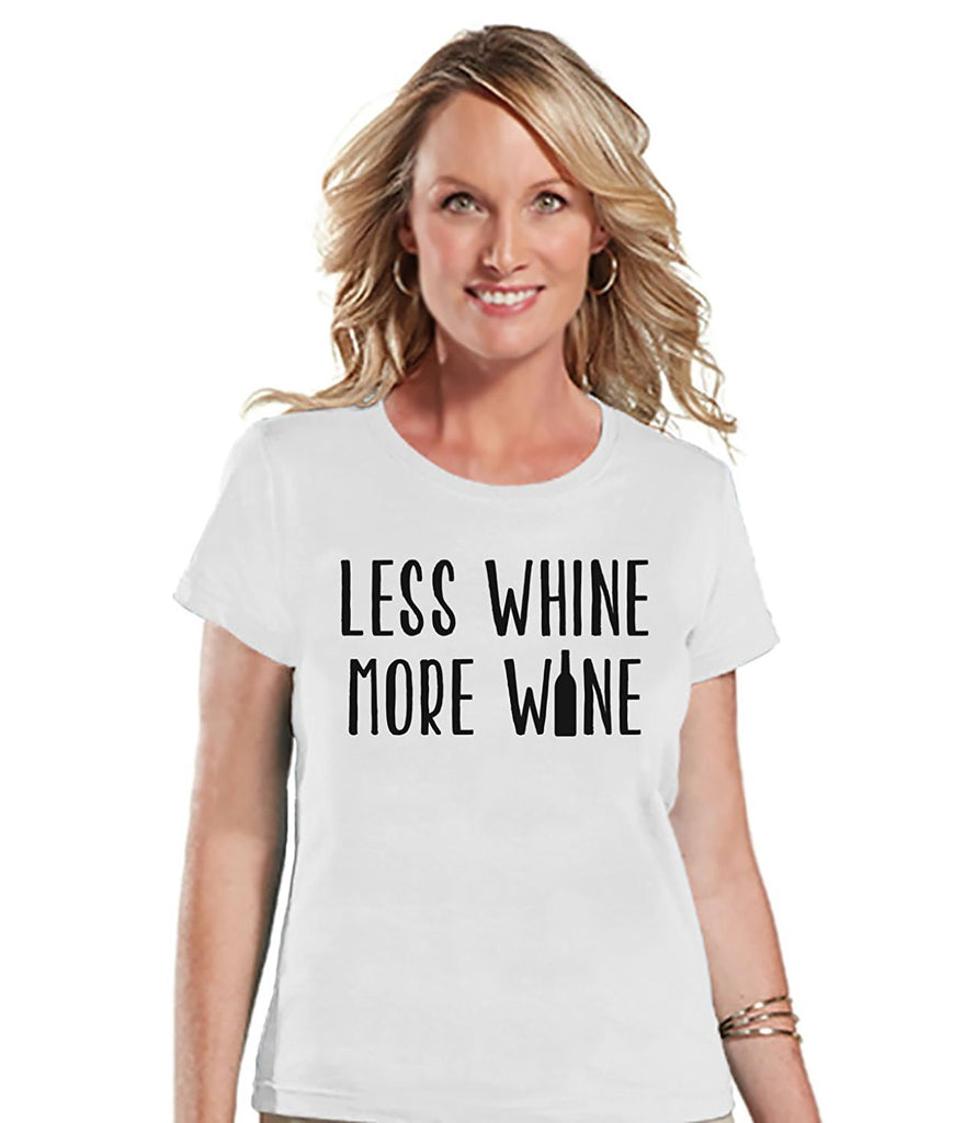 7 ate 9 Apparel Womens Less Whine More Wine Mother's Day T-shirt