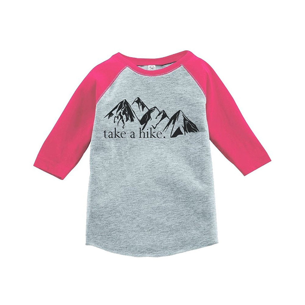7 ate 9 Apparel Girl's Take a Hike Outdoors Raglan Tee