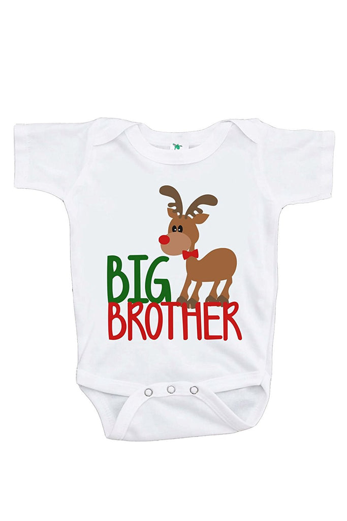 7 ate 9 Apparel Baby's Big Brother Christmas Onepiece