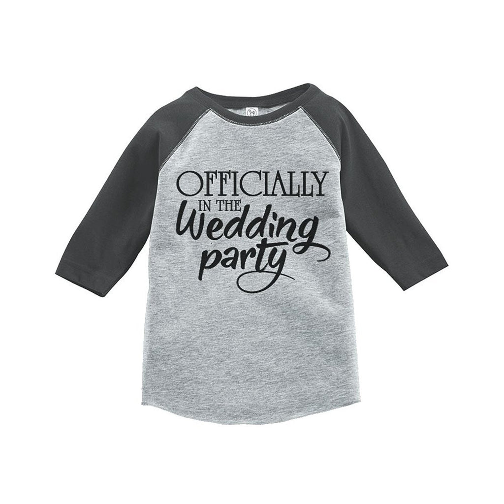 7 ate 9 Apparel Wedding Party Kids Wedding Raglan Tee