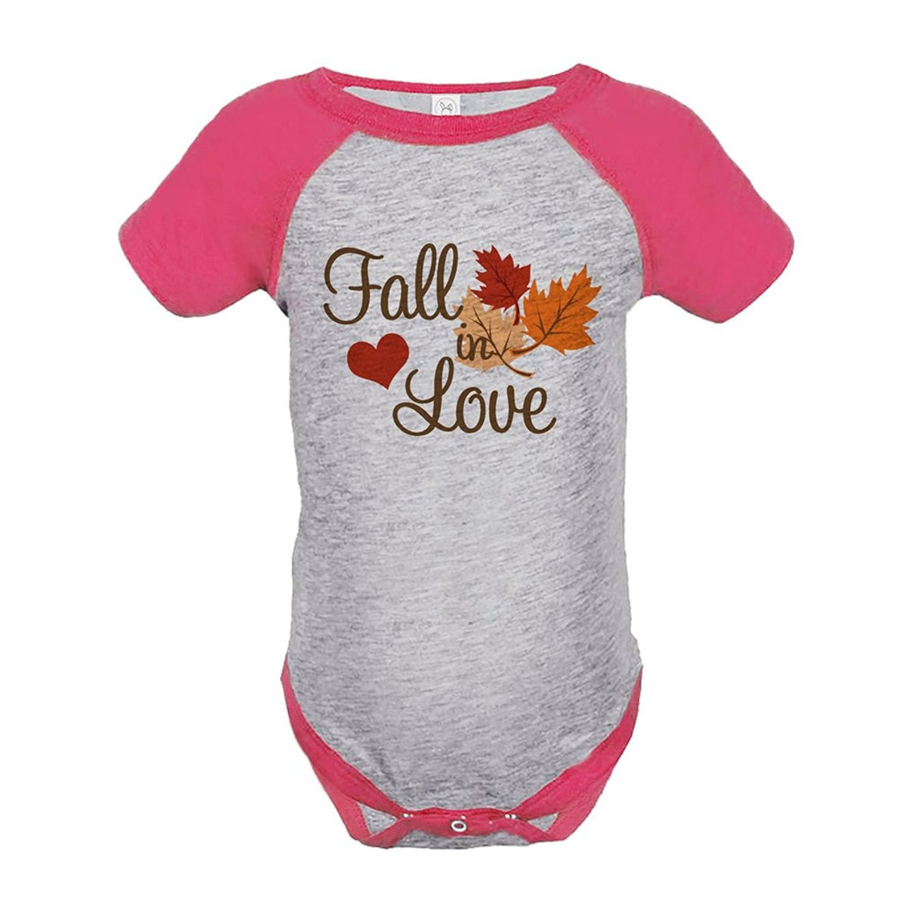7 ate 9 Apparel Baby's Fall In Love Thanksgiving Onepiece