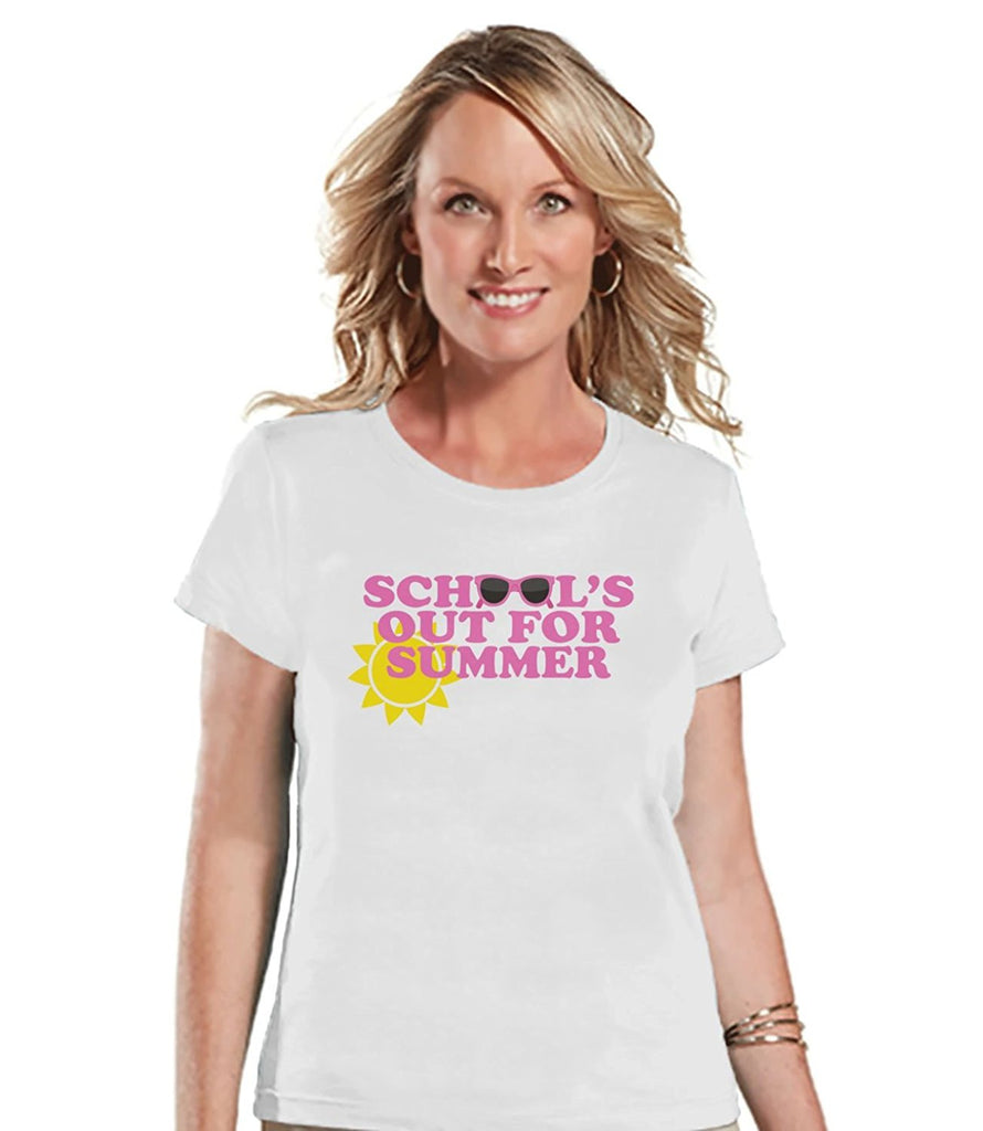 7 ate 9 Apparel Womens School's Out For Summer T-shirt
