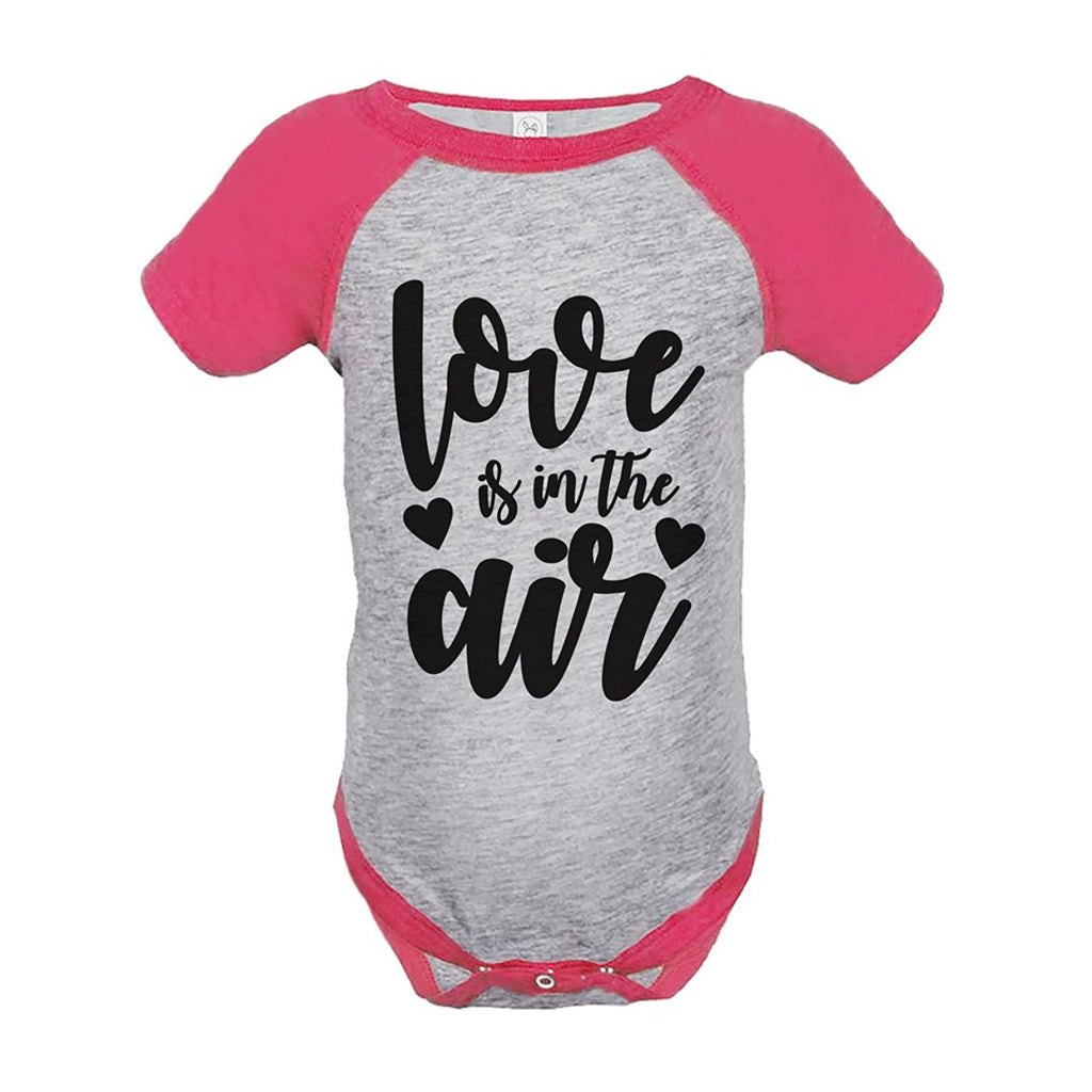 7 ate 9 Apparel Kids Love is in the Air Valentine's Day Pink Onepiece