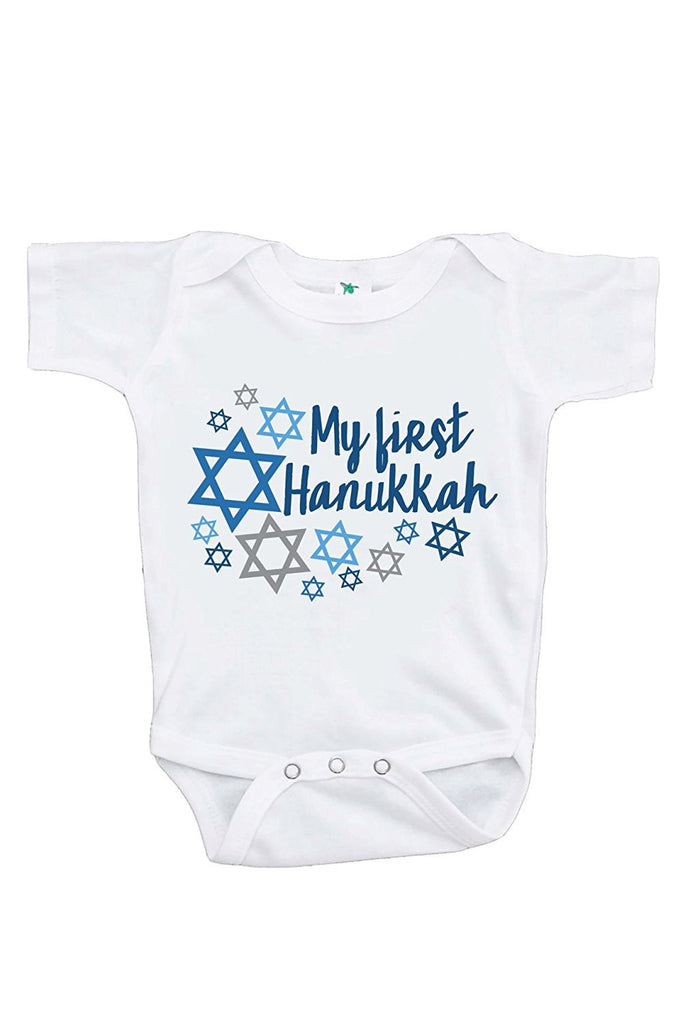 7 ate 9 Apparel Baby's My First Hanukkah Onepiece