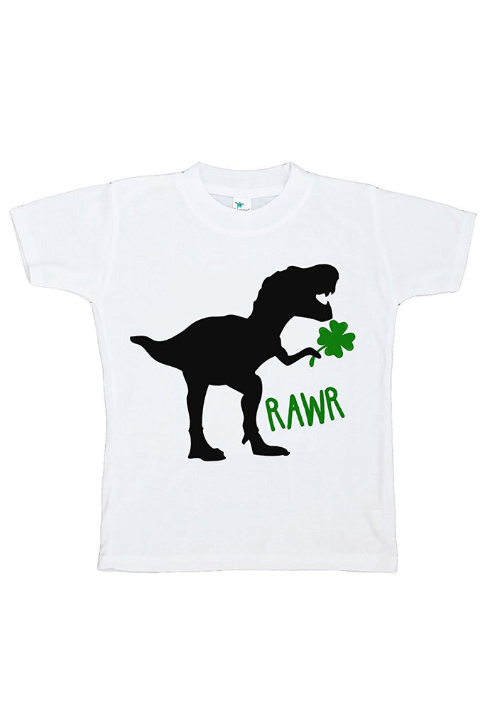 7 ate 9 Apparel Kids Dinosaur St. Patricks Day T-shirt