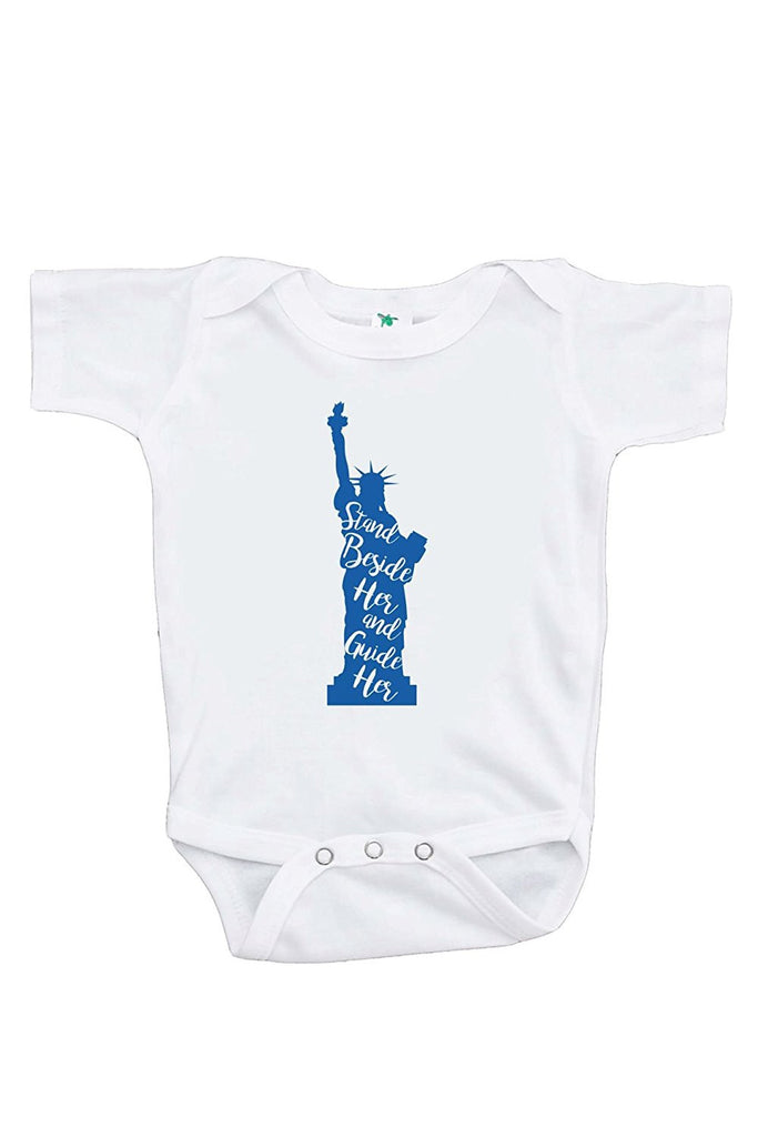 7 ate 9 Apparel Kids Statue of Liberty 4th of July Onepiece