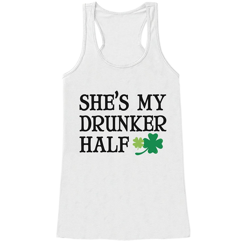 7 ate 9 Apparel Womens Drunker Half St. Patrick's Day Tank Top