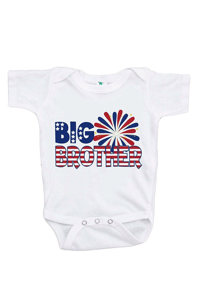 7 ate 9 Apparel Boy's Big Brother 4th of July Onepiece