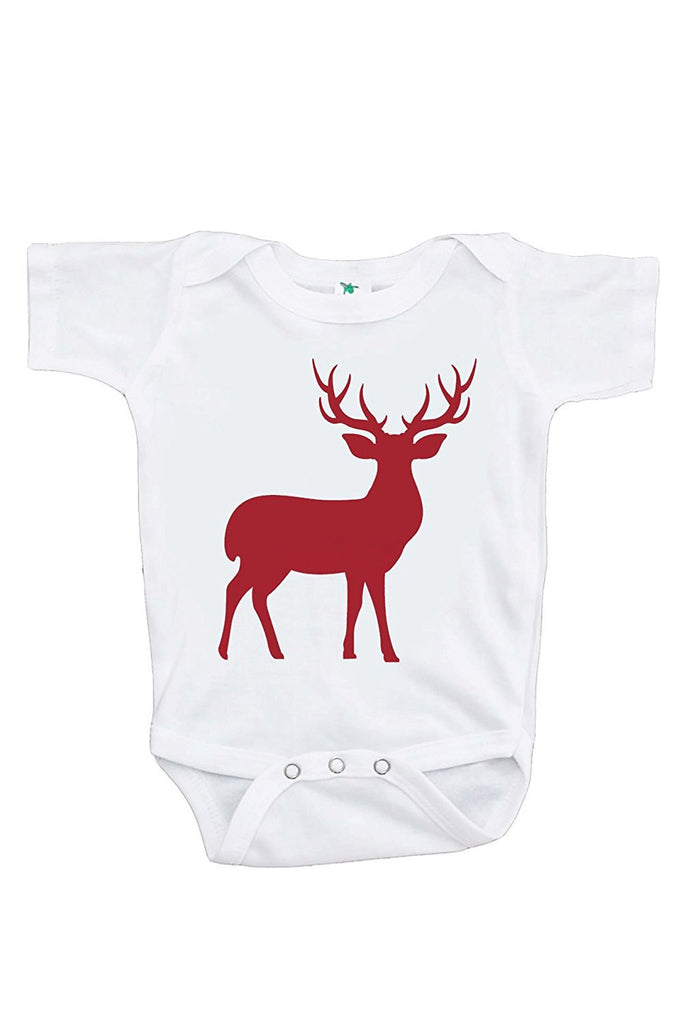 7 ate 9 Apparel Baby's Red Deer Christmas Onepiece