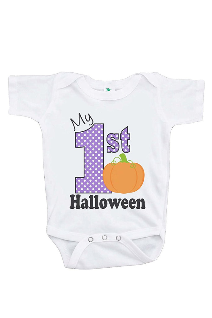 7 ate 9 Apparel Baby's My 1st Halloween Onepiece