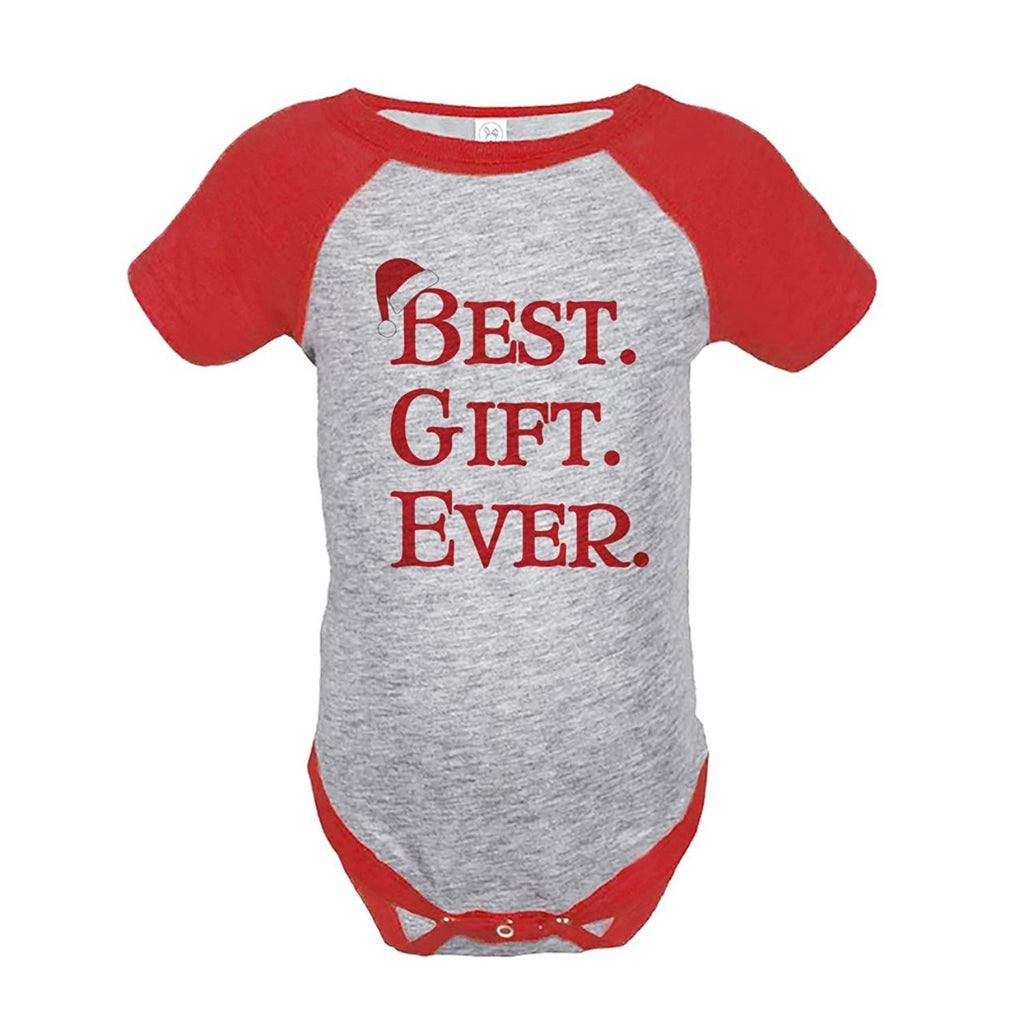 7 ate 9 Apparel Baby's Best Gift Ever Christmas Onepiece Red