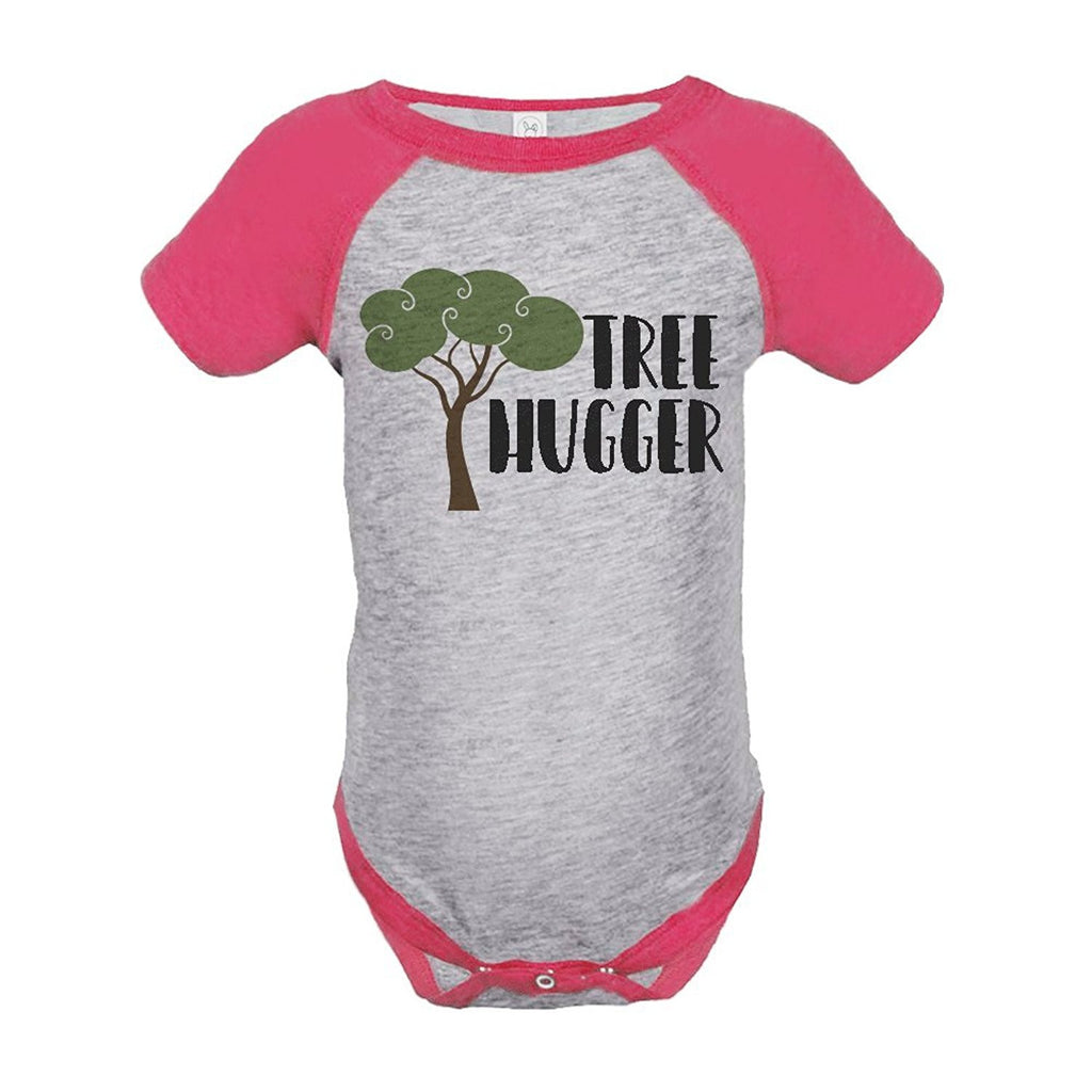 7 ate 9 Apparel Girl's Tree Hugger Outdoors Raglan Onepiece