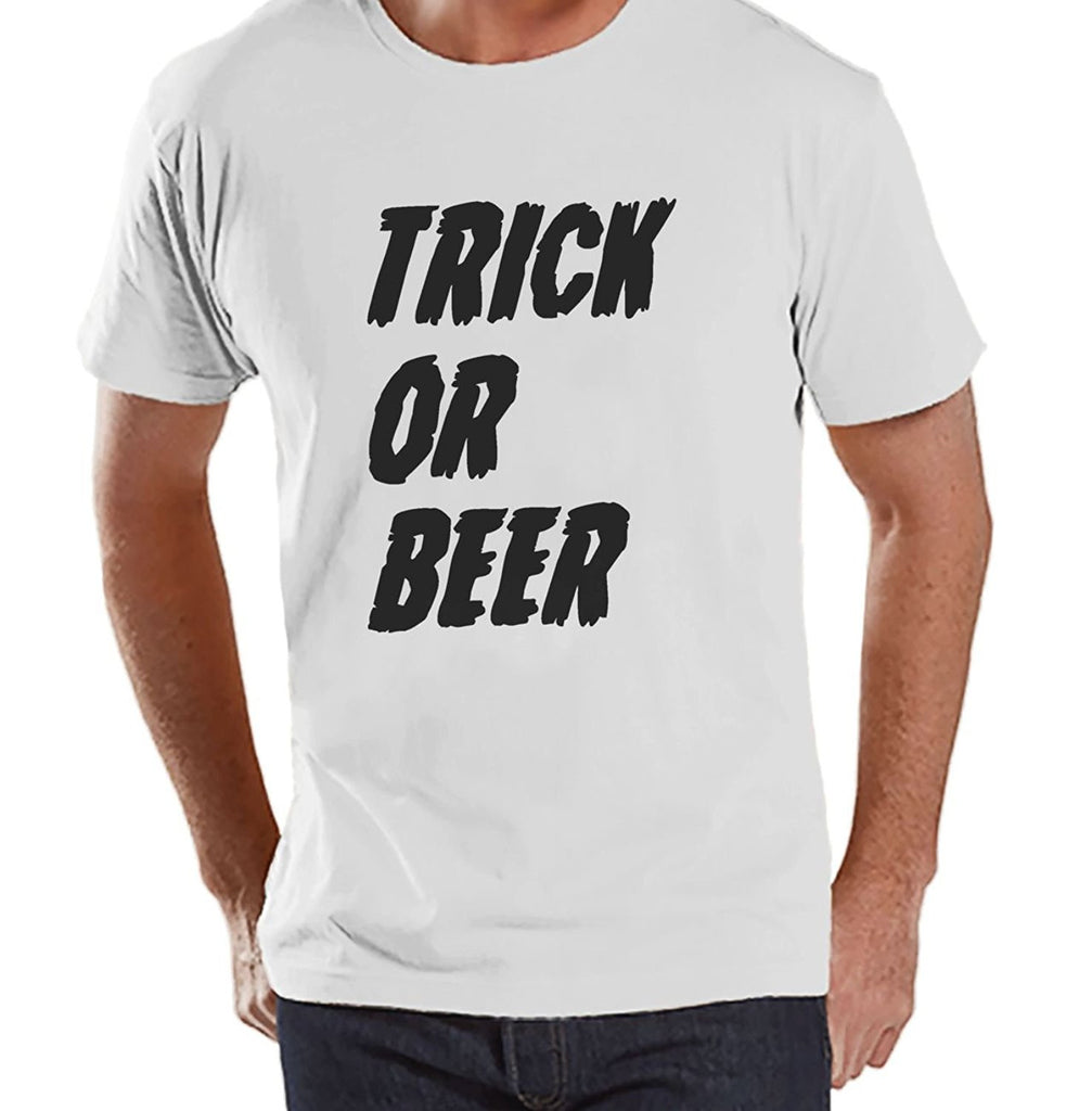 7 ate 9 Apparel Men's Trick or Beer Halloween T-shirt