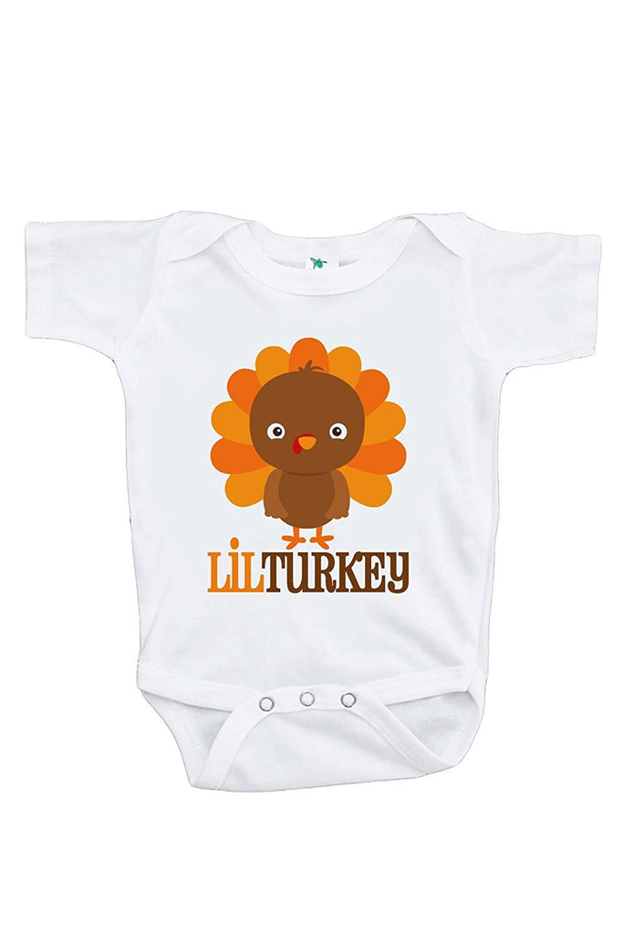 7 ate 9 Apparel Baby Boy's Little Turkey Thanksgiving Onepiece