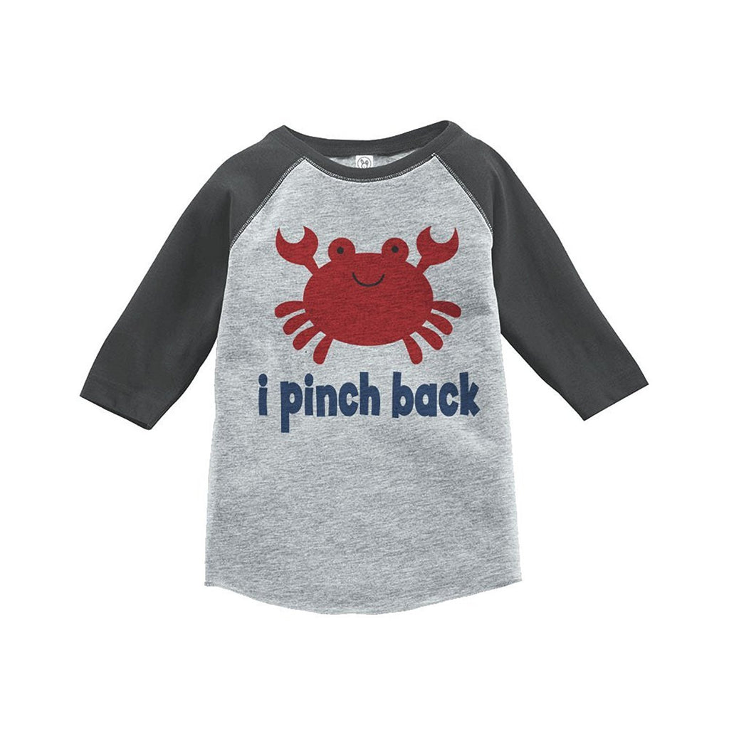 7 ate 9 Apparel Funny Crab Summer Raglan Tee