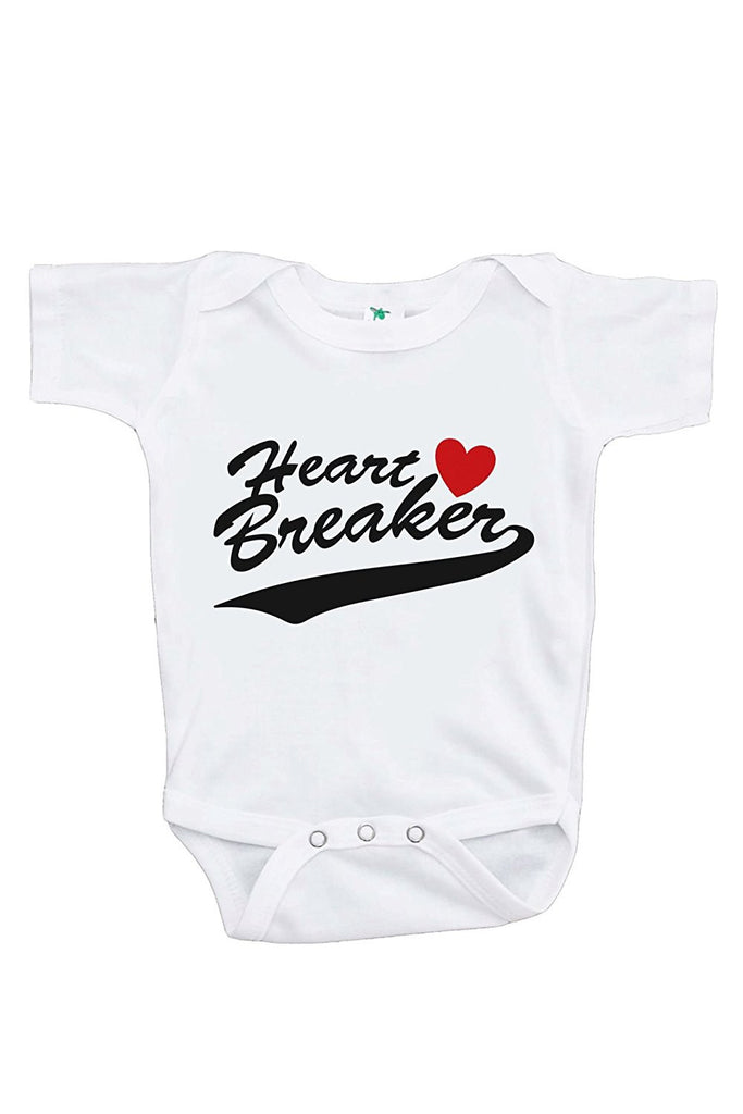 7 ate 9 Apparel Baby's Heart Breaker Happy Valentine's Day Onepiece