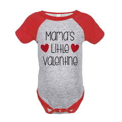 7 ate 9 Apparel Girl's Mama's Little Valentine's Day Red Onepiece