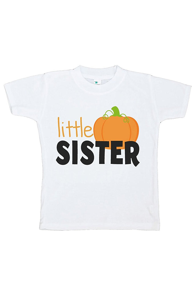 7 ate 9 Apparel Kids Little Sister Halloween Tshirt