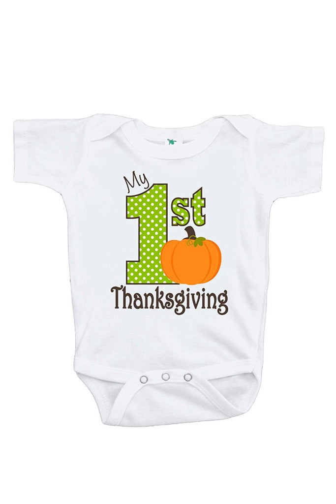 7 ate 9 Apparel Baby Boy's My 1st Thanksgiving Onepiece