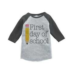 7 ate 9 Apparel Kids First Day of School Raglan Tee