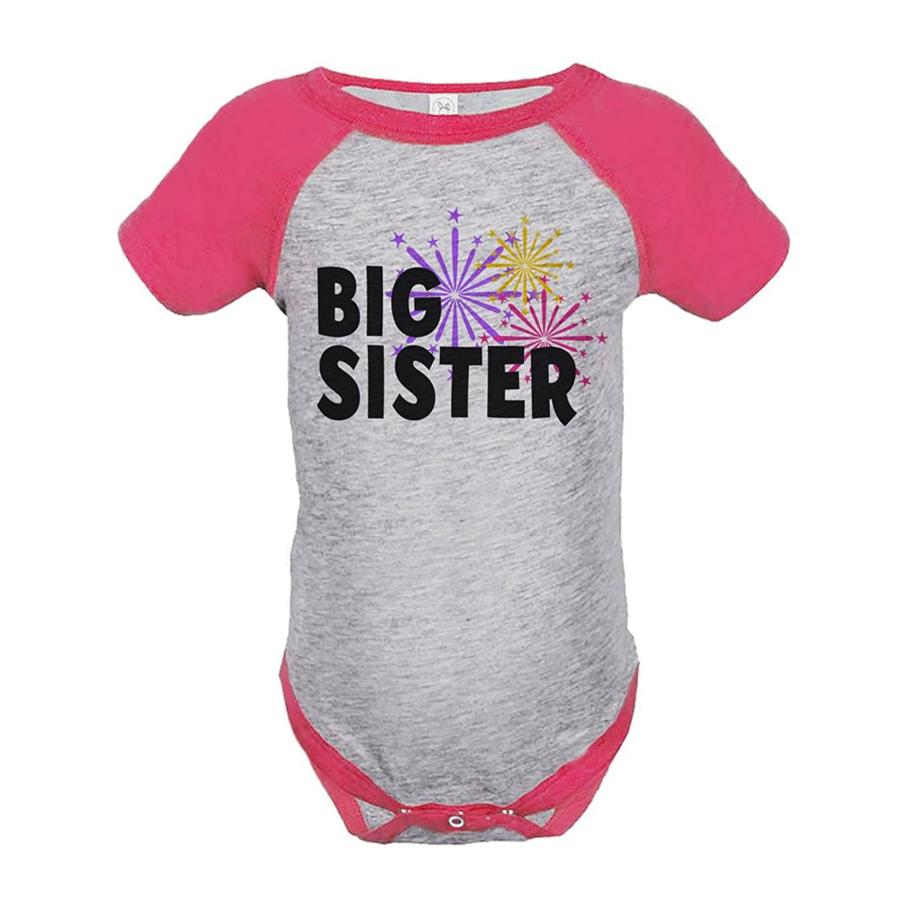 7 ate 9 Apparel Baby's Big Sister Happy New Year Onepiece