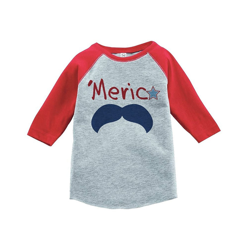 7 Ate 9 Apparel America 4th of July Raglan Tee