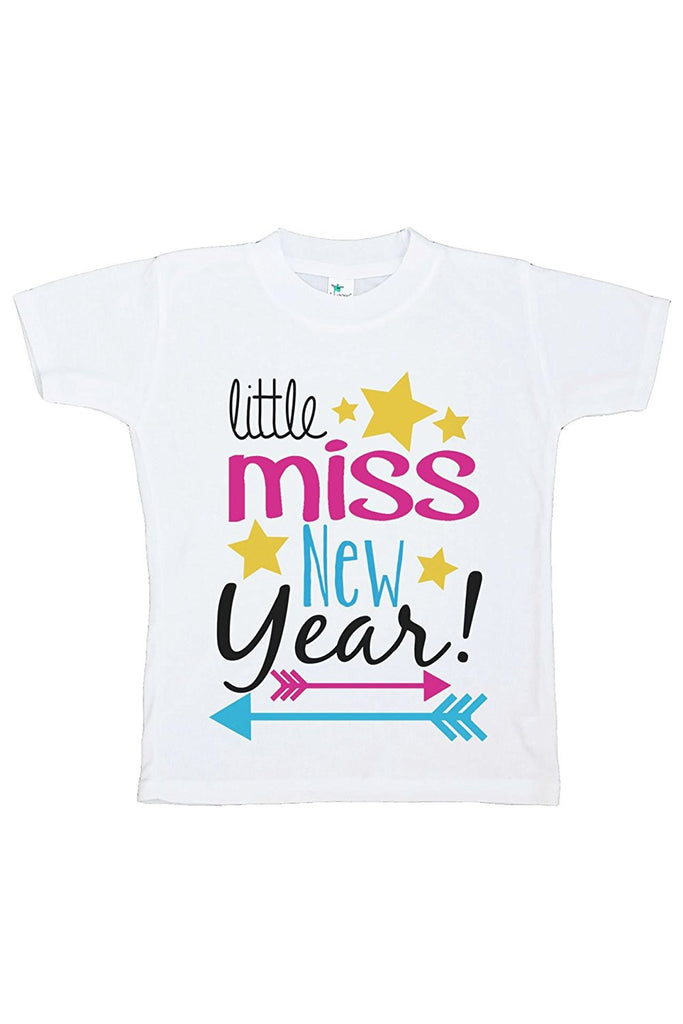 7 ate 9 Apparel Kids Little Miss New Year T-shirt