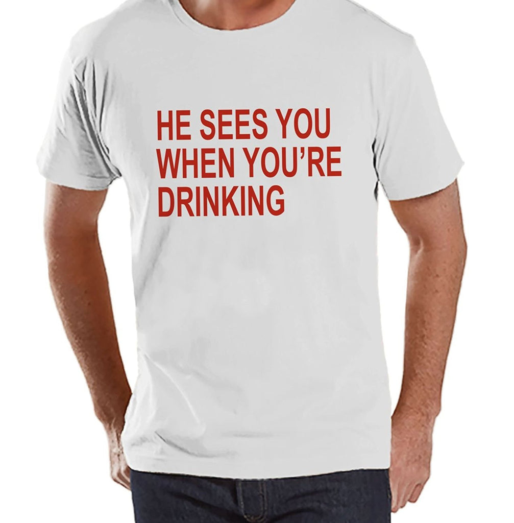 7 ate 9 Apparel Mens Funny Drinking Christmas T-shirt