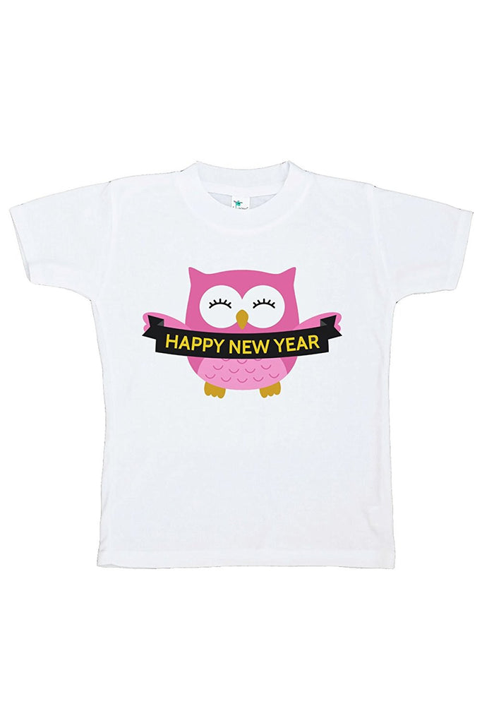7 ate 9 Apparel Kids Owl Happy New Year T-shirt