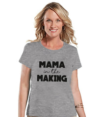 7 ate 9 Apparel Women's Mama In The Making Pregnancy Announcement T-shirt