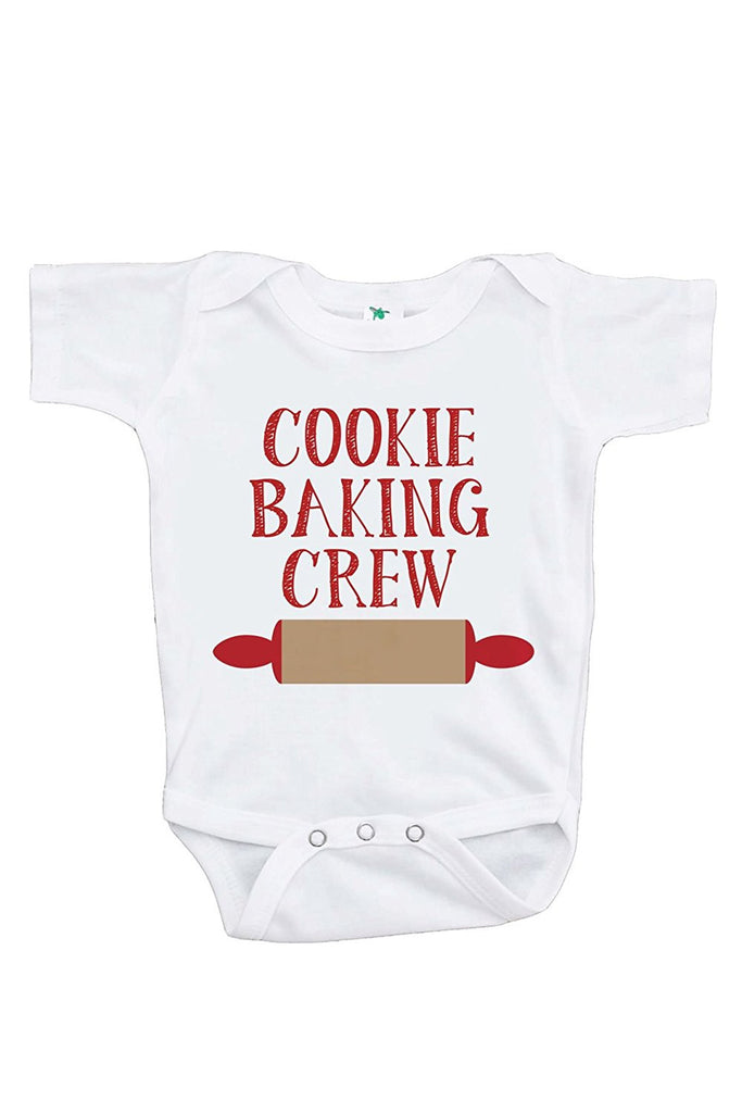 7 ate 9 Apparel Baby's Cookie Baking Crew Christmas Onepiece