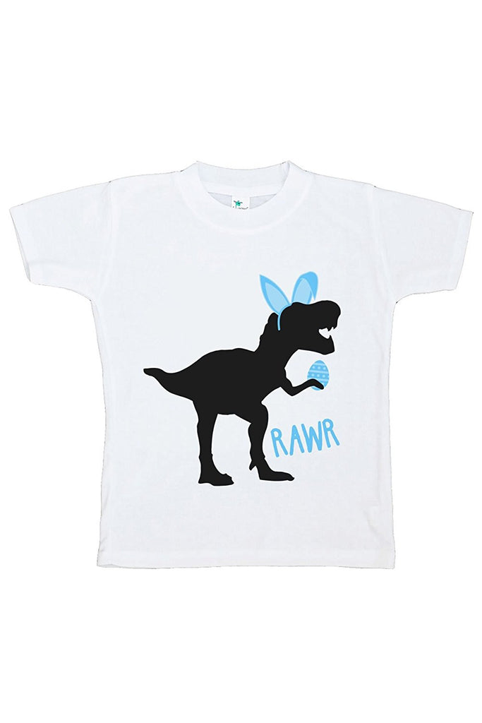 7 Ate 9 Apparel Baby Boy's Dinosaur Happy Easter T-shirt