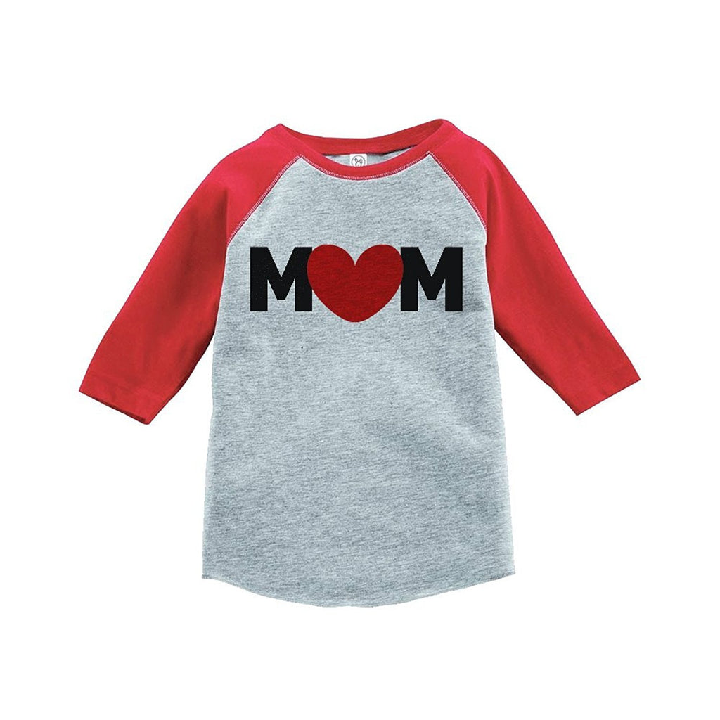 7 ate 9 Apparel Boy's Mother's Day Vintage Baseball Tee