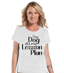 7 ate 9 Apparel Womens Dog Ate My Lesson Plan T-shirt