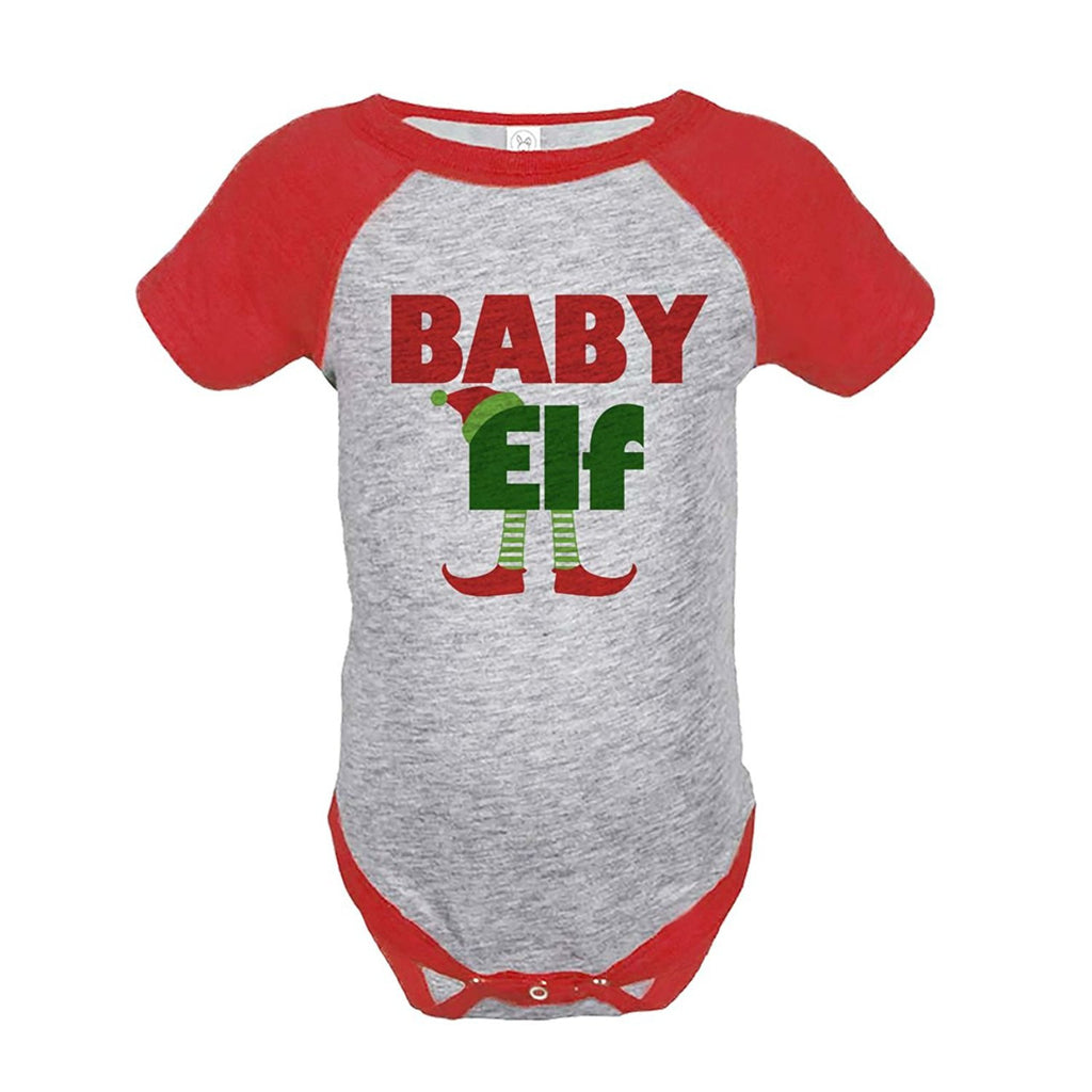 7 ate 9 Apparel Baby's Baby Elf Christmas Onepiece Red