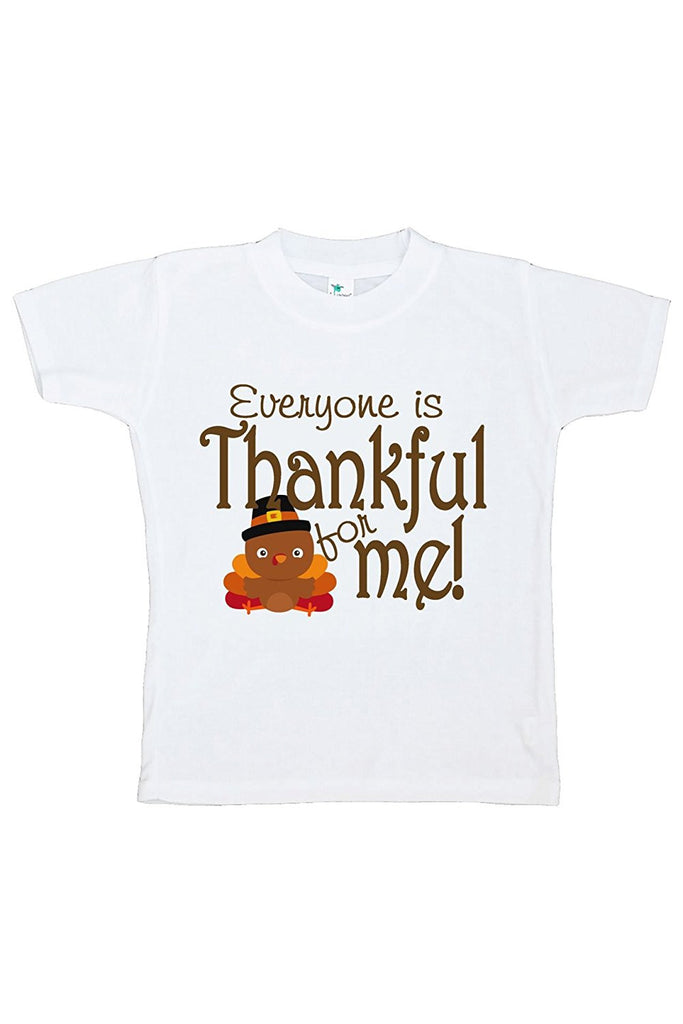 7 ate 9 Apparel Baby's Thankful for Baby Thanksgiving Tshirt