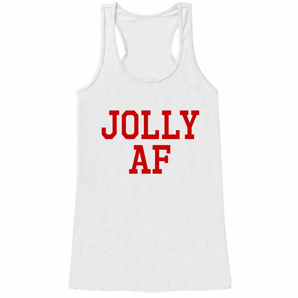 7 at 9 Apparel Women's Jolly AF Christmas Tank Top