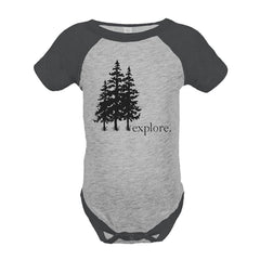 7 ate 9 Apparel Unisex Explore Outdoors Raglan Onepiece