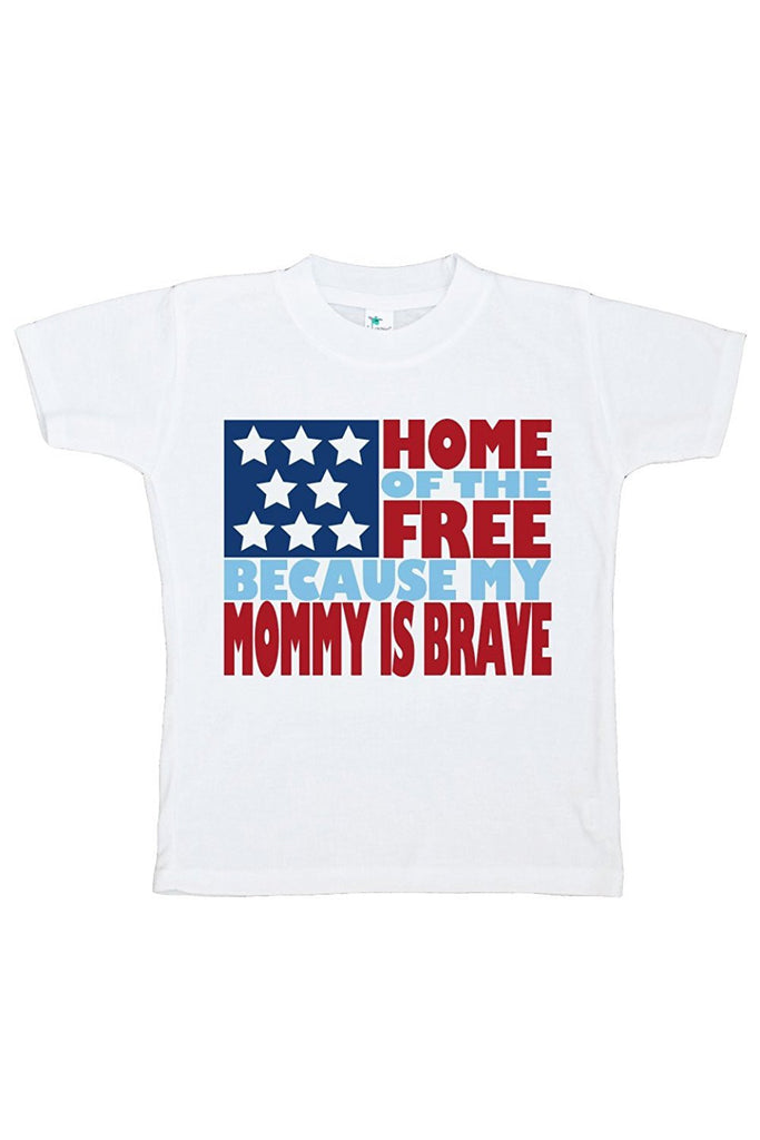 7 ate 9 Apparel Kid's Mommy is Brave 4th of July T-shirt