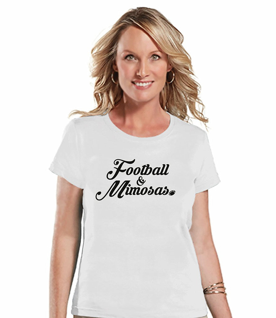 7 ate 9 Apparel Womens Football & Mimosas T-shirt