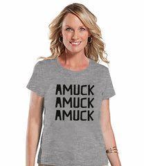 7 ate 9 Apparel Womens Amuck Halloween T-shirt