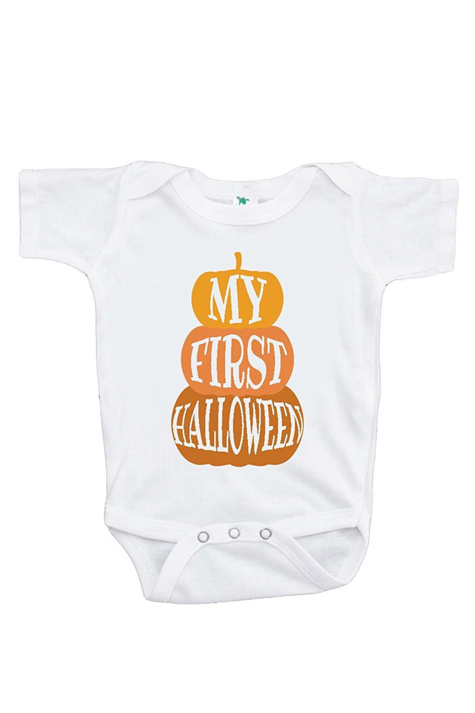 7 ate 9 Apparel Baby's First Halloween Onepiece