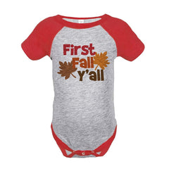 7 ate 9 Apparel Baby's First Fall Y'all Onepiece