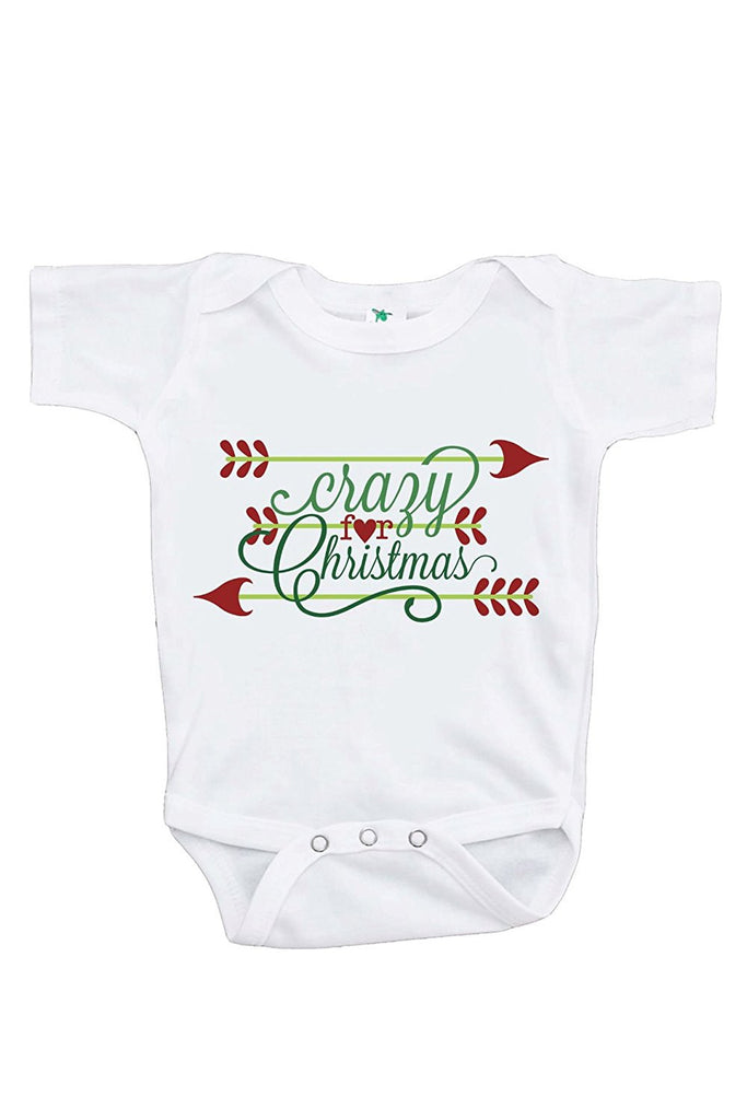 7 ate 9 Apparel Baby's Crazy For Christmas Onepiece