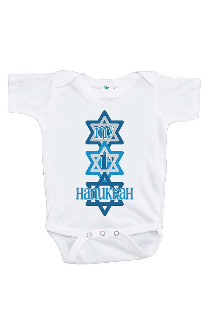 7 ate 9 Apparel Baby's My 1st Hanukkah Onepiece
