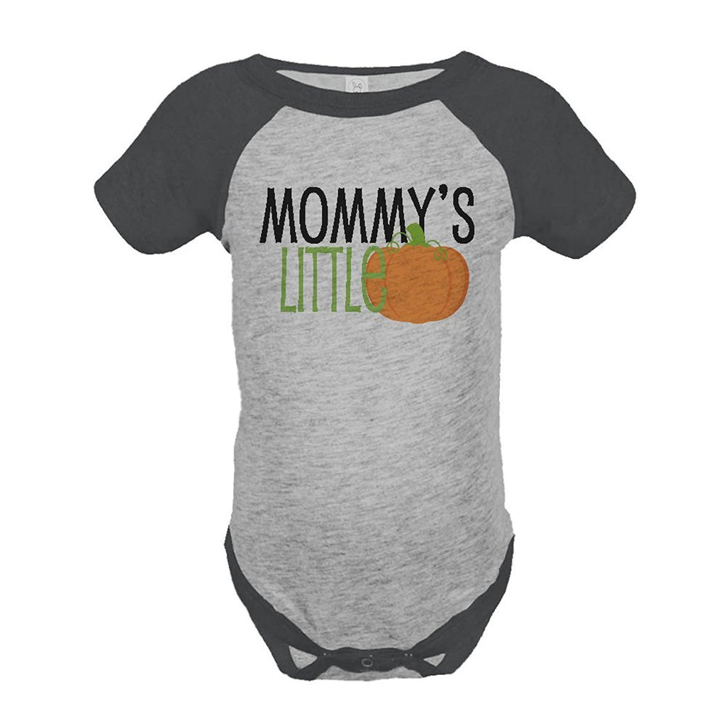 7 ate 9 Apparel Baby's Mommy's Little Pumpkin Halloween Onepiece