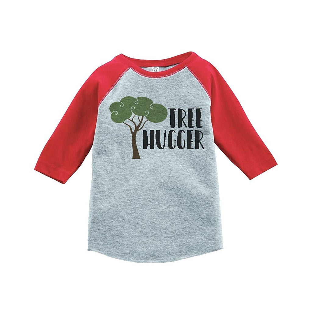 7 ate 9 Apparel Unisex Tree Hugger Outdoors Raglan Tee
