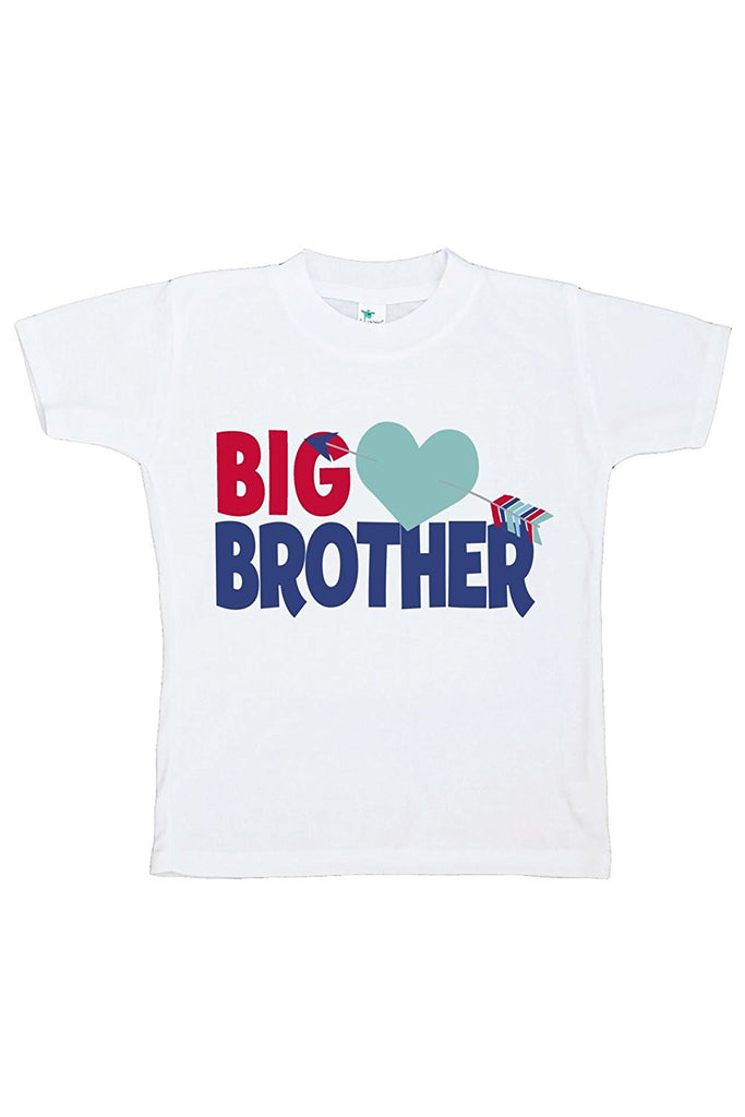 7 ate 9 Apparel Boy's Big Brother Happy Valentine's Day T-shirt