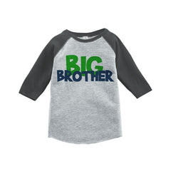 7 ate 9 Apparel Boy's Novelty Big Brother Vintage Baseball Tee
