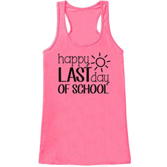 7 ate 9 Apparel Womens Last Day of School Teacher Tank Top
